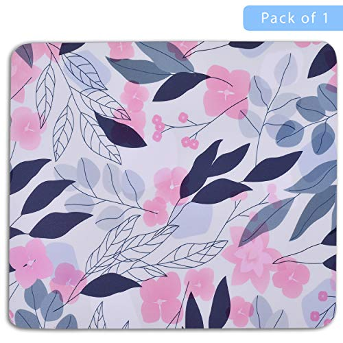 Unique Rectangle Mouse Pad with Non Slip Rubber Base, Comfortable Computer Mouse Pad for Laptop, Pain Relief Mousepad for Office & Home, 8 x 7 inches (Cherry Blossom) Photo #2