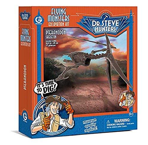 Geoworld 625272 - Dr. Steve Hunters: Dino Ausgrabungs-Set - Pteranodon-Skelett, Alter: 6+, Größe: 48 cm