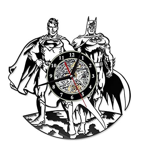 Reloj de pared de Los Vengadores, Capitán América, decoración de pared, reloj de vinilo de Los Vengadores, Capitán América, Regalo para niños, Marvel (A05)