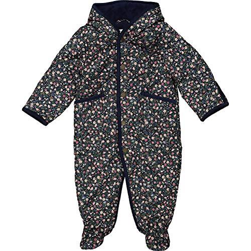 Ralph Lauren Gepolsterter Schneeanzug, Blumenmuster, Marineblau Gr. 9 Monate, multi