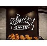 Calcomanía de pared para decoración del hogar, panadería, pastelería, pasteles, cafés, decoración de pared, carteles extraíbles