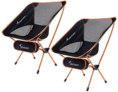Sportneer Camping Chair, Ultra Light Garden Chair Portable Folding Chair with Carry Bag for Backpacking, Hiking, Picnic, Fishing, Park, Festival, Outdoors, Beach etc (Hold up to 350 lb/158kg) (2)