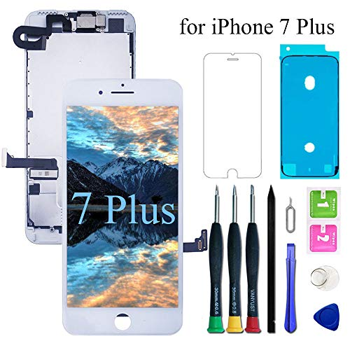 VANYUST for iPhone 7 Plus Screen Replacement LCD Display Touch Digitizer with Front Camera and Earpiece Compatible for iPhone 7 Plus White