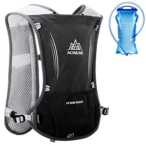 Azarxis Hydration Vest Backpack Pack 5L for Women and Men - Fit for Trail Marathoner Running Race