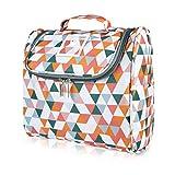 ONISM Neceser de diseño | Neceser para colgar con gancho y asa para mujeres, hombres y niños | Neceser de cosméticos, bolsa de aseo plegable, grande, ligero para maleta