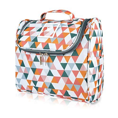 ONISM XL Design Kulturtasche | Kulturbeutel zum aufhängen mit Haken und Henkel für Damen, Herren und Kinder | Kosmetiktasche, Waschbeutel aufklappbar, groß, leicht für Koffer
