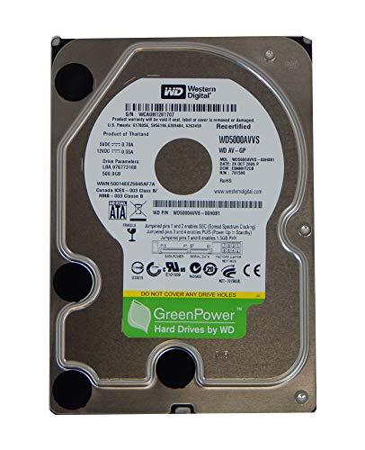 Western Digital 500GB SATA HDD DCM EBNNHT2CB Factory Recertified