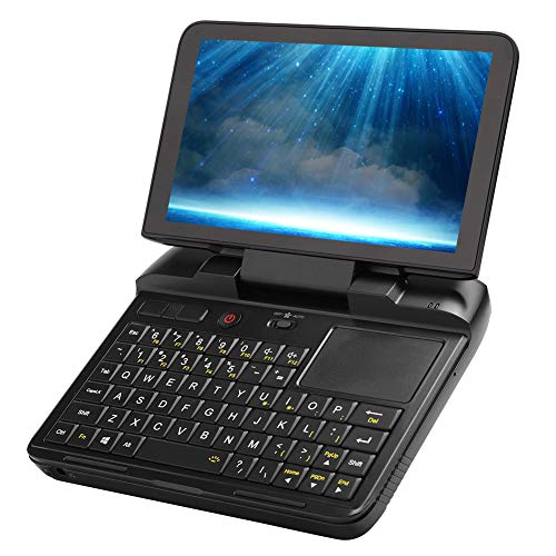 Mini computadora portátil, MicroPC 8G + 128G Mini computadora portátil de 6 Pulgadas 1280 x 720 para Intel Celeron N4100 2.4G / 5G Mini computadora portátil de Mano de Doble Banda (EU)