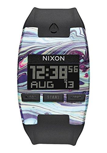 Nixon Unisex Erwachsene Digital Uhr mit Silikon Armband A408-2151-00