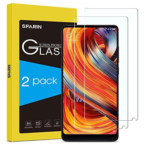 [2-Pack] Protector Pantalla Xiaomi Mi Mix 2S/2, SPARIN Cristal Templado Xiaomi Mi Mix 2s/2, Protector de Pantalla con [2.5d Borde redondo] [9H Dureza] [Alta Definicion]