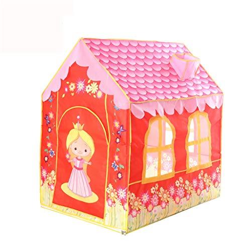 Tents Dziewczęcy namiot w stylu księżniczki, namiot ogrodowy, domek dla wielu dzieci, interaktywny namiot do zabawy, łatwy montaż (wymiary: 100 x 70 x 106 cm)