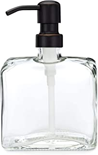 Urban Square Recycled Glass Soap Dispenser with Metal Pump (Farmhouse Bronze)