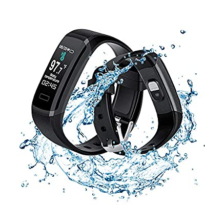Fitness Activity Tracker,Smart Temperature Monitoring Fitness Band with Heart Rate Monitor Sleep Monitor Blood Pressure Call Reminder Intelligent-Watch for Kids Men Women and Gift