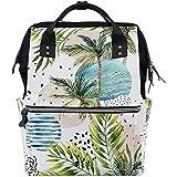 Mummy Backpack Palm Tropical Leaves Multi-Function Dad Travel 28X18X40Cm Mochila para Pañales Cremallera Bolsas De Bebé De Gran Capacidad Mochilas Casuales Mamá Unisex