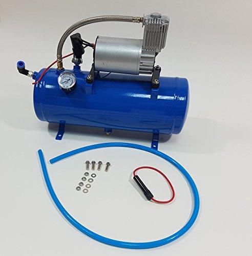 Druckluftkompressor-Pumpentank-Kit für PKW-Horn (10,34 Bar), mit eingebautem Druckschalter, 6 l, 12 V