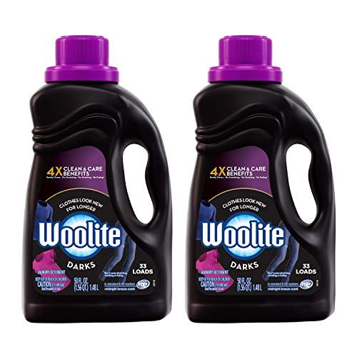 Product Image of the Woolite Dark Care Laundry Detergent, Midnight Breeze Scent, 50 oz/ 33 Loads *Packaging May Vary* (Pack of 2)