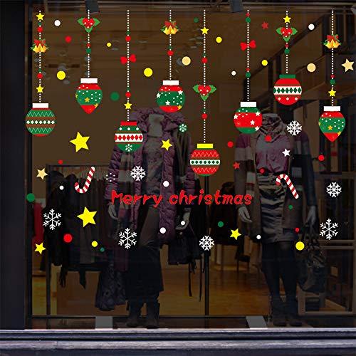 HNLY Weihnachtsdekoration Weihnachtsaufkleber Dekoration Einkaufszentrum Glas Fenster Aufkleber Feld Weihnachten Zuhause AußEnbereich 50 * 70Cm