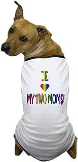 CafePress - I Heart My 2 Moms - Dog T-Shirt, Pet Clothing, Funny Dog Costume