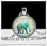 Collar de elefante, joyería, colgante de arte, colgante de elefante, puro hecho a mano