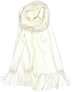 AN Womens Pashmina Shawl Scarf with Tassels Silk Soft Fashion Accessory