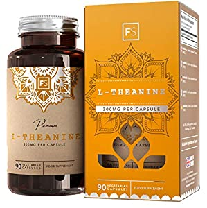 FS L Theanine 300mg, Pure L-Theanine with No Fillers,| 90 Vegan Capsules | Calm Nootropic Supplement