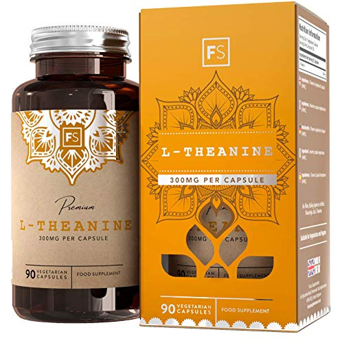 FS L Theanine High Strength 300mg | No Fillers or Binders just L-Theanine and a Vegan Capsule | 90 Vegan Capsules | Nootropic Supplement | 3 Month Supply | Non GMO | Gluten Free | Made in The UK