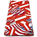 WBinHua Handtücher, Sporthandtuch, Bath Towels Austria Flag with America Flag Face Towels Highly Absorbent Washcloths Multipurpose Towels for Hand Face Gym and Spa 12' X 27.5'