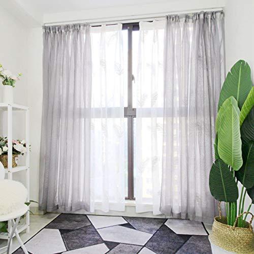 Vorhang Sand Grau Erker Balkon Schlafzimmer Boden bis zur Decke Fenster Trennwand Dekorgarn Transparent Sonnenschutz Atmungsaktiv Einfach