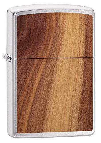 Zippo Feuerzeug, Unisex, Woodchuck Cedar Emblem, Winddicht, Chrom