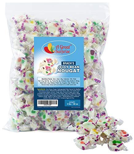 Brach's Jelly Nougats - 3 LB Bulk Candy