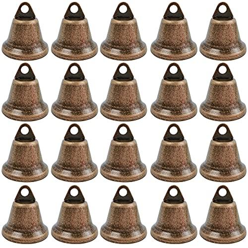 Campana in bronzo vintage 20 PCS 38MM Mini Campana Metallica, Vintage piccola campana per Lavoretti Fai da Te Decorazioni Natale Addestramento Animali