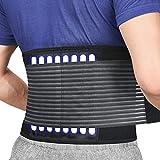 Faja Lumbar Trabajo para la Espalda Ayuda de la Cintura para Aliviar El Dolor de Espalda y Prevenir Daños, Negr Unisex