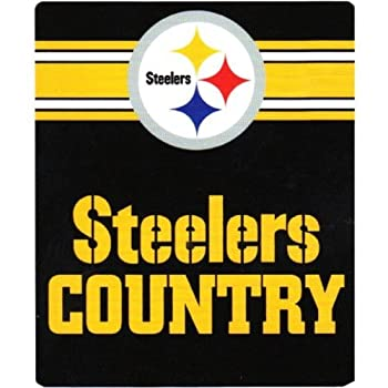 NFL Pittsburgh Steelers Country Fleece Throw Blanket 50-inch by 60-inch Black