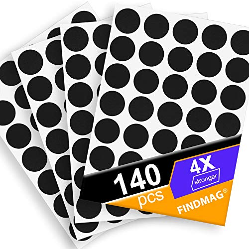 Magnets with Adhesive Backing Magnetic Tape Magnet Strips – Perfect for Crafts & DIY Projects, Hanging & Organizing Light Objects at Home Office or Warehouse, 140Pcs