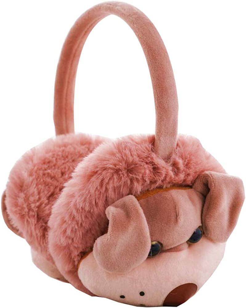 Cute Animal Soft Earmuffs Winter Warm Outdoor Ear Covers Headband Fur Ear warmer,#C16