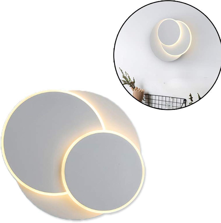 Moderne LED-Wandleuchte, 18W LED-Wandleuchten 350-Grad-Rotation, vernderbare Wandleuchten für Wohnzimmer, Schlafzimmer und Flur