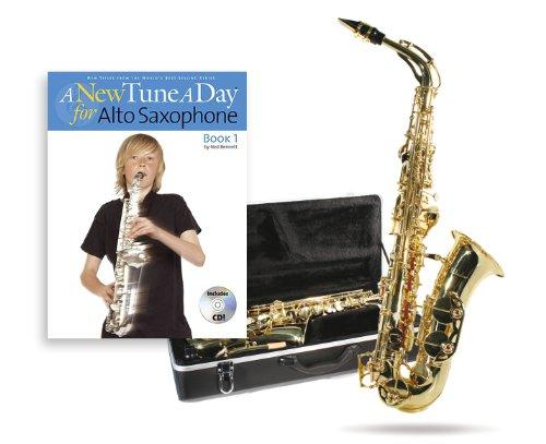 Windsor MI-1005-PK - Saxofón alto, color negro y dorado