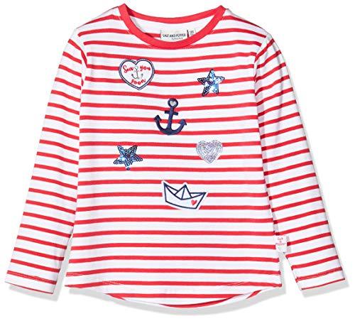 Salt & Pepper Mädchen 03111232 Langarmshirt, Rot (Lollipop Red 344), 140 (Herstellergröße: 140/146)