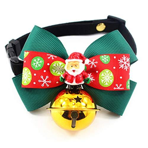 WORDERFUL Collar de Perro de Halloween con Campana, Adorable, Accesorios de Halloween, Corbatas para Perros pequeños, medianos y Gatos, 2 Patrones.