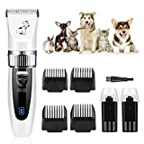 GHB Dog Clippers Dog Grooming Clippers Pet Grooming Kit Cordless Low Noise