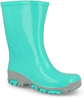 Muflon 04 Botas Wellington para niños y niñas con lluvia para nieve – iones plateados Ag+