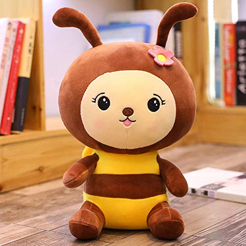 NIANMEI Cute Bee Plush Toy Cute Bee with Wings Plush Doll Doll Cute Children's Toy Calma Regalo de cumpleaños B_30cm