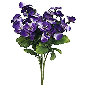 Silk Flower Arrangements Htmeing 17 Inch Artificial Pansy Flowers Home Office Wedding Decoration