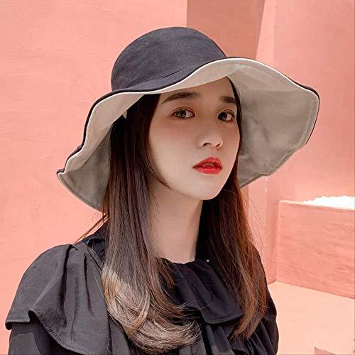 Vbtsqp Nuevo Tipo Innovador de Sombrero de Pescador Rojo de Red Delgado, Sombrero para el Sol con protección Solar de Primavera, Sombrero Grande para el Sol de Verano de Moda