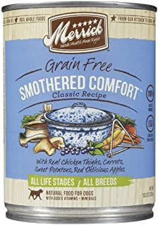 Merrick Grain Free Smothered Comfort Classic Recipe Canned Dog Food, 13.2 oz, Case of 12 by Merrick