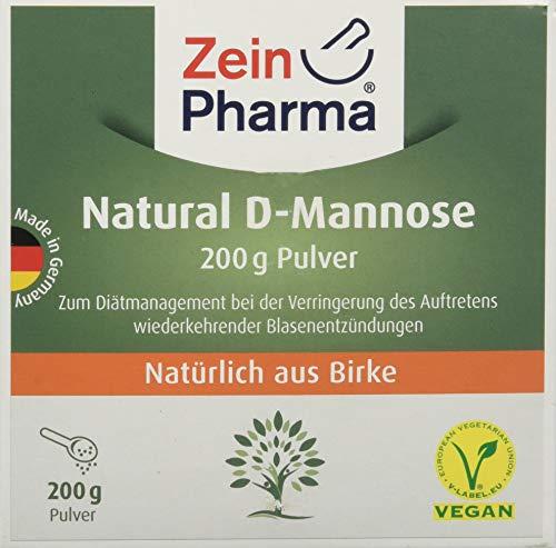 ZeinPharma D-Mannose Pulver (2 Monate Vorrat) dietätische Behandlung gegen Blasenentzündung Hergestellt in Deutschland, 200 g