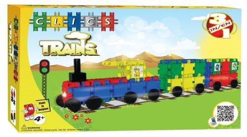 Clics CA028 - Trains Box 3 in 1, bunt/metallic