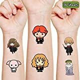 UJGTAR Replacement for Harry Potter Gifts for Kids, Party Supplies Favors, 16 Sheets Temporary Tattoos Skin Stickers, Birthday Decorations for Boys Girls Kids School Supplies