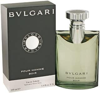 Bvlgari Pour Homme Soir by Bvlgari For Men Eau De Toilette 3.4 Ounce