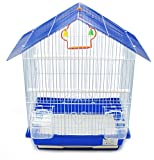 BPS Jaula Pájaros Metal con Comedero Bebedero Columpio Saltador Cubeta Color envia al Azar 46 x 26 x 33 cm BPS-1161